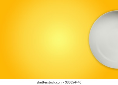 Dish on mango background