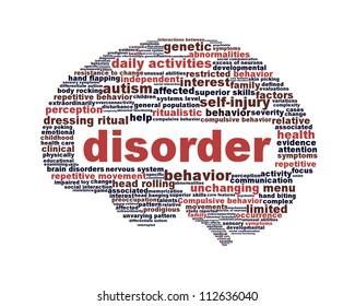 Disorder symbol isolated on white. Mental health icon conceptual design