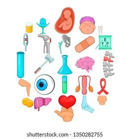 Disorganization icons set. Cartoon set of 25 disorganization icons for web isolated on white background