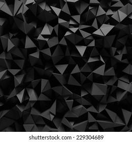 Displaced 3d triangular background