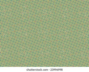 displaced colored dots