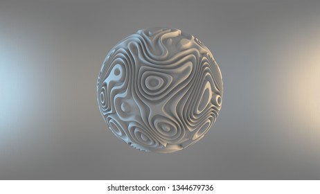 displacement sphere against abstract background - 3d artwork