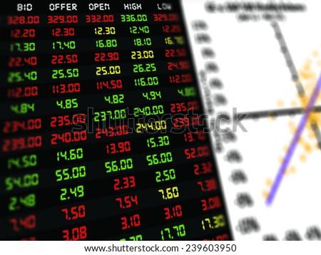 Display Daily Stock Market Price Quotation Stock Illustration