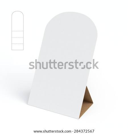 display stand die cut template stock illustration 284372567