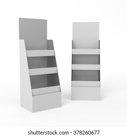 display stand mockup template on white. render