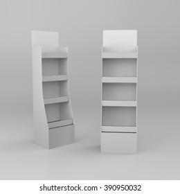 display stand mockup template on grey