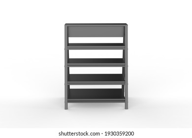 Display stand, retail display stand for product , display stands isolated on white background. 3d illustration