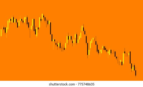 Display Stock Market Quotes Candlestick Chart Stock Illustration