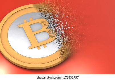 Dissolving Bitcoin under inflation