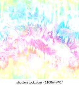 Distorted Pastel Tie Dye Print
