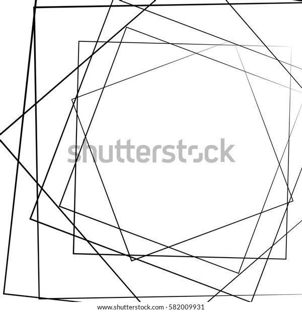 Distorted random radiating lines abstract monochrome pattern