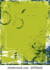 Distressed chartreuse frame