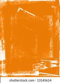 Distressed orange background