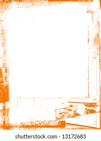 Distressed orange frame