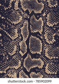 Distressed overlay texture of crocodile or snake skin leather, grunge pattern brown and beige