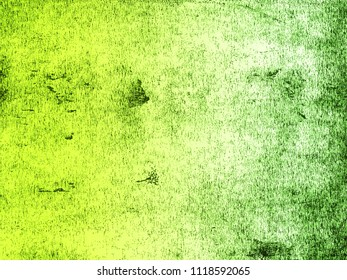 A distressed print textured background in graduated shades of lime green. Scanned from an original lino print.