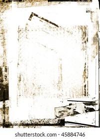 Distressed sepia frame