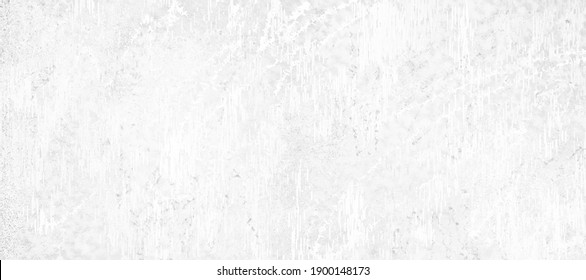 Distressed solid white background with scratched paint, crackled grainy grunge design in old white paper or painted wall design
