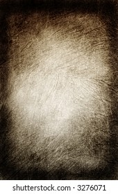 Distressed Wrinkled Muslin Background in Sepia Gradation With Hot Spot