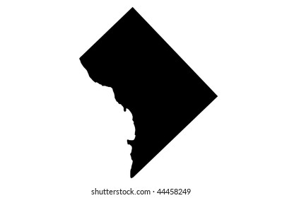 District of Columbia - white background