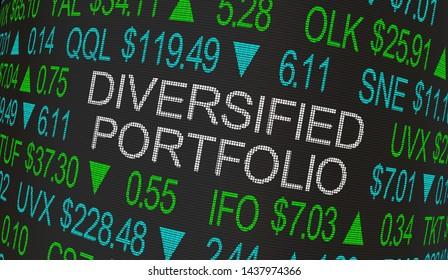 Diversified Portfolio Stock Market Investment Strategy 3d Illustration