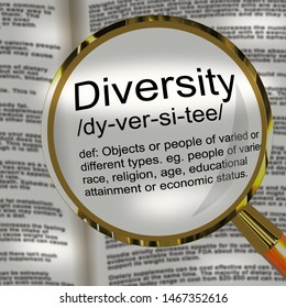 Diversity concept icon meaning variation and difference. Ethnic inclusiveness and a range of multiculturalism - 3d illustration