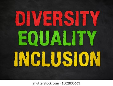 Diversity Equality Inclusion - chalkboard concept
