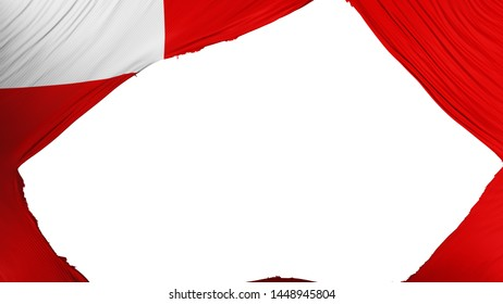 Divided Abudhabi, capital of United Arab Emirates flag, white background, 3d rendering