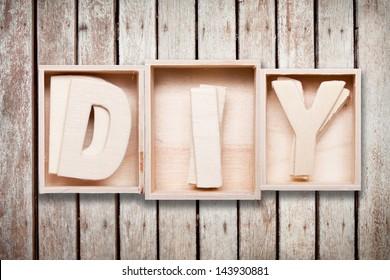 DIY wood font style