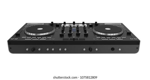 DJ Turntable Isolated. 3D rendering