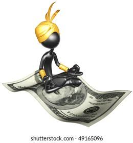 Djinn On Money Magic Carpet