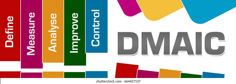 DMAIC Colorful Stripes Rounded Squares