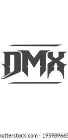 DMX lettering logo is simple, easy to understand
