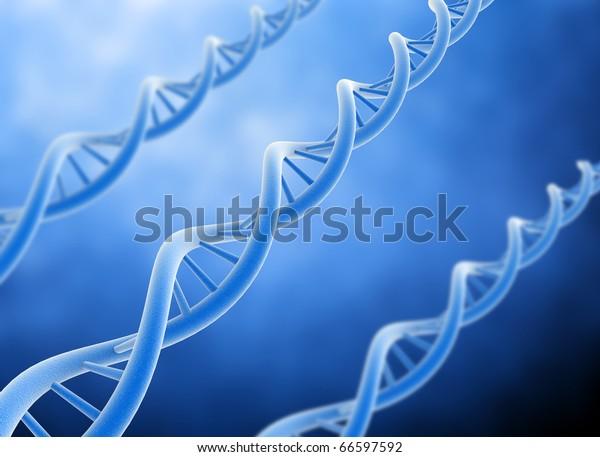 DNA 3d render high quality