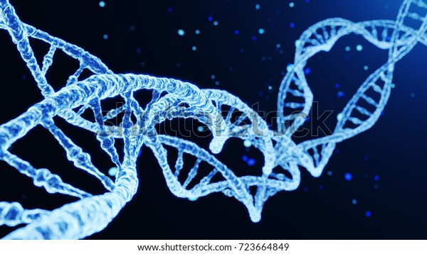 DNA Abstract Futuristic Background. 3D illustration