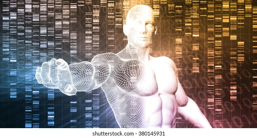 DNA Chemistry Technology and Genome Sequencing Concept
