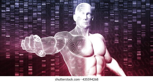DNA Chemistry Technology and Genome Sequencing Concept 3d Illustration Render
