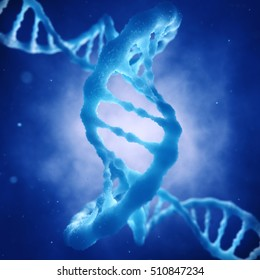 Dna double helix molecule , Gene mutation , Sequencing , Genetic disorder , 3d illustration