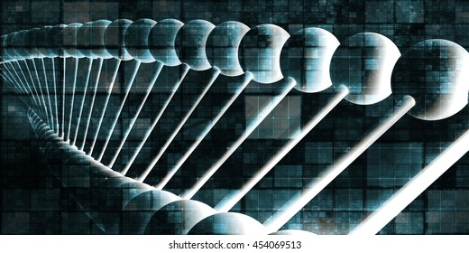 DNA Helix Abstract Science Genetic Background Art 3D Illustration Render