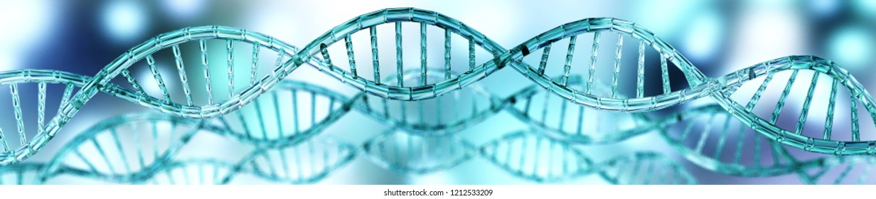 DNA helix, DNA, genes and chromosomes, 3d rendering