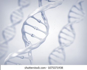 Dna helix, Genetic code and gene  sequencing, 3d illustration