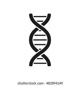 The dna icon. DNA symbol. Flat  illustration