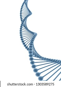 DNA isolated on white background. 3D render
