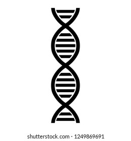 DNA line icon. Double helix of DNA molecule of living organisms