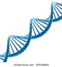 DNA molecule. Isolated on white background. 3D render