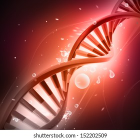 DNA on abstract background