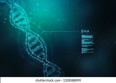 Dna representation on a abstract medical background