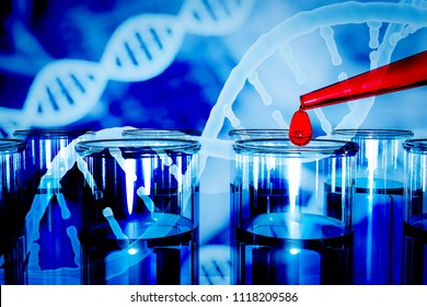 DNA research concept DNA barcodes for biomedical research  mitochondrial DNA  Prostate cancer DNA test 3d rendering