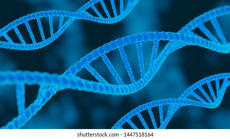 DNA sequence. Molecules structure dna code. Science and Technology concept. 3d stock illustration.