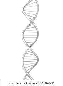 Dna spiral. 3d illustration isolated on white background